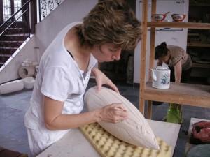 2005, Diana Carving, Fragrant Garden studio, Jingdezhen