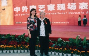 2004, Opening of the First International Ceramic Fair & Masters exhibition with Australian sculptor Susan Bateson & Diana Williams