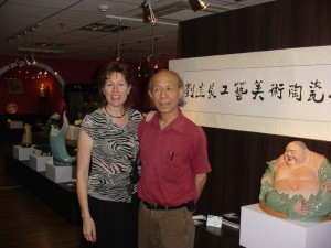 2005, Shanghai, collaborative Exhibition with Great Master, Professor Liu Yuanchang