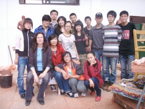 Jingdezhen Ceramic Institute, New Campus, University. Life Sculpture class. Teacher – Zhang Si Ping & Students