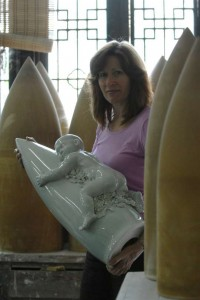 2007, Back from the kiln after 4 previous attempts. A successful fired work.