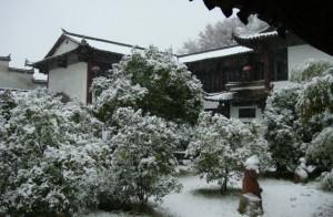 Snow at my studio.